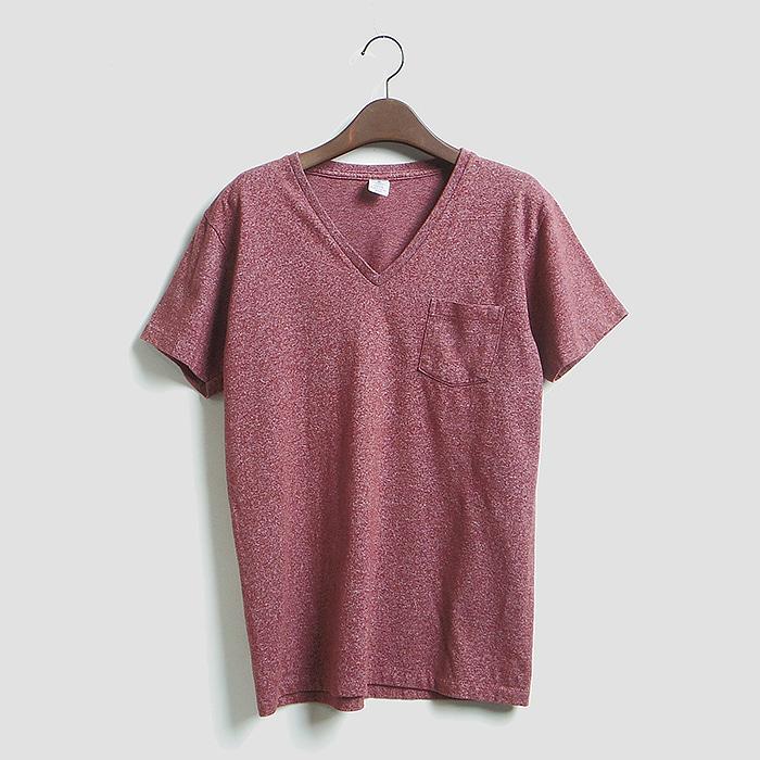 VELVA SHEEN  벨바 신 브이넥 포켓 반팔 티셔츠 MADE IN USA