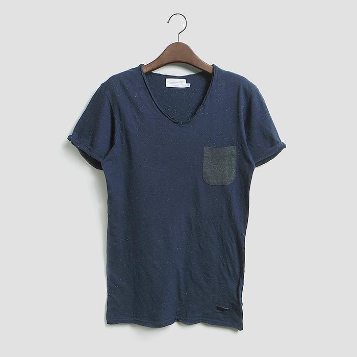 ELEVEN PARIS  일레븐 파리스 보카시 반팔 원포켓 슬림 티셔츠 MADE IN INDIA
