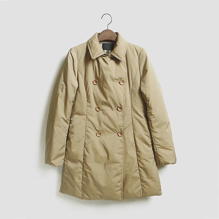 ICB  아이씨비 더블 버튼 다운 코트