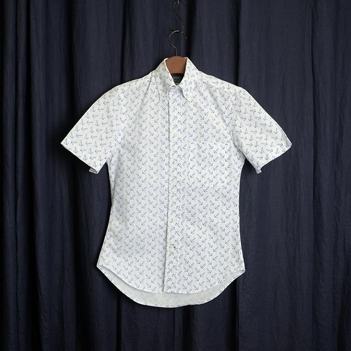 GITMAN BROS / made in usa  짓먼브로스 앵커 프린트 셔츠