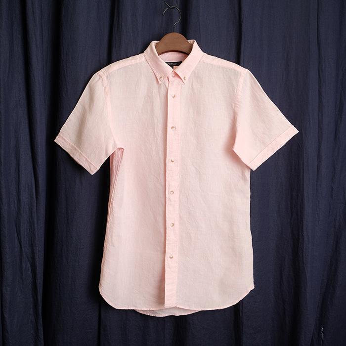 UNITED ARROWS / made in japan  유나이티드 애로우즈 핑크 린넨 셔츠