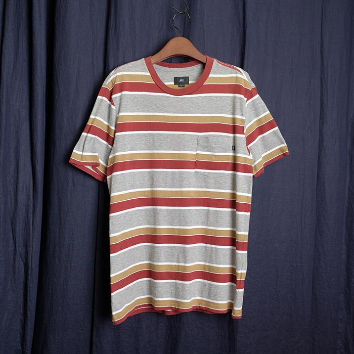 OBEY  오베이 스트라이프 포켓 티셔츠
