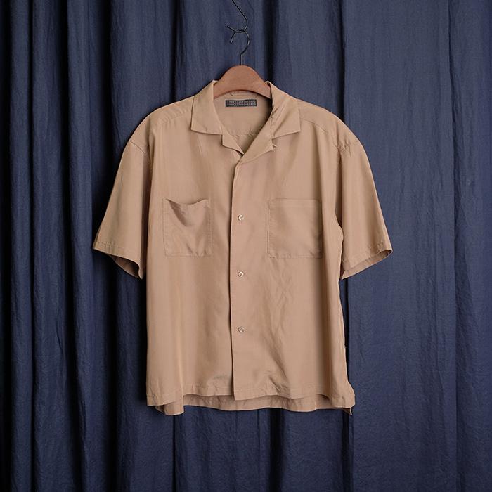 SENSE OF PLACE  센스오브 플레이스 레이온 믹스 오픈카라 셔츠