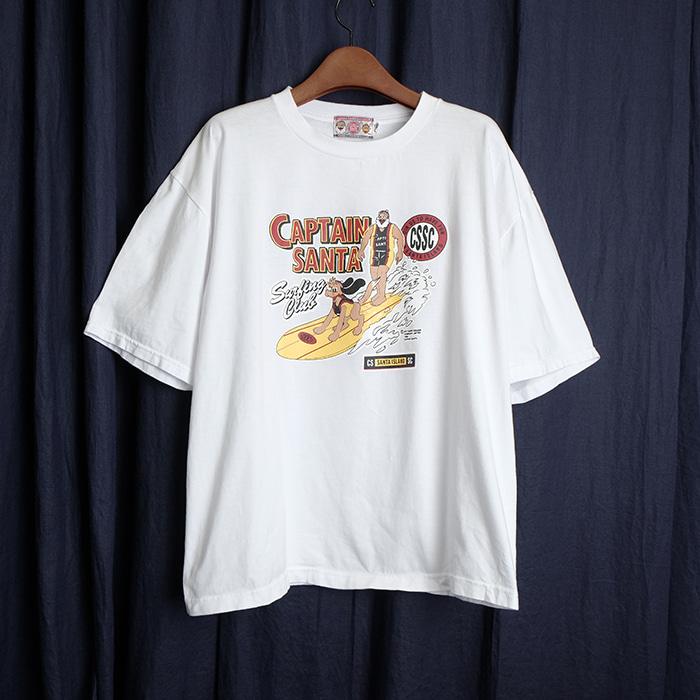 CAPTAIN SANTA  캡틴 산타 프린트 티셔츠