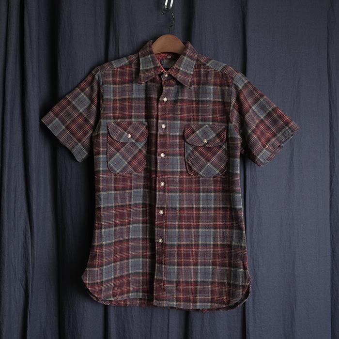 PENDLETON / Made in usa  펜들턴 리메이크 울 체크셔츠 하프셔츠