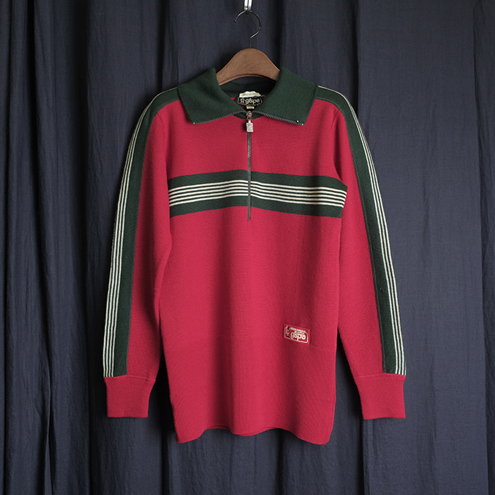 GISPO / made in italy  지스포 80's 빈티지 배색 카라니트