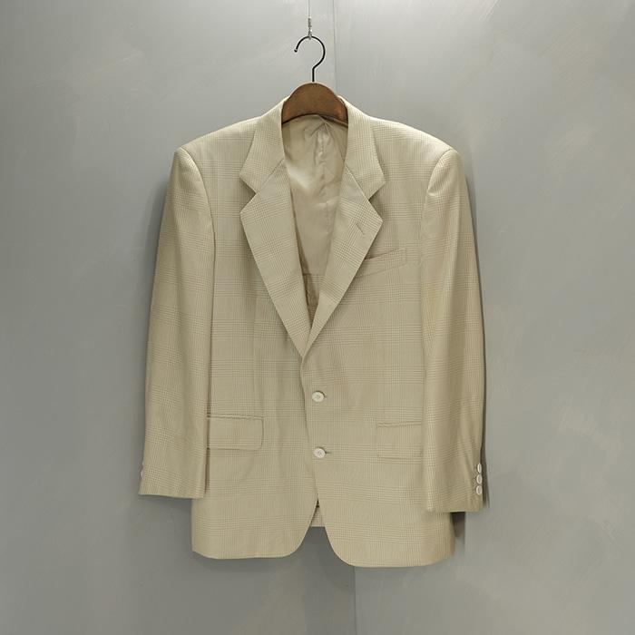 이브생로랑 / Made in japan  Yves saint laurent Wool silk mix check blazer