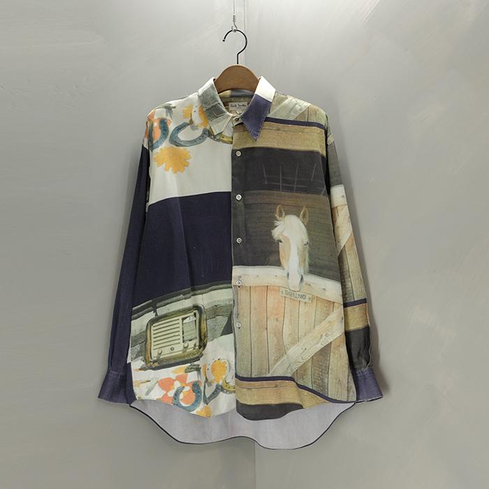 폴스미스  Paulsmith print over shirt