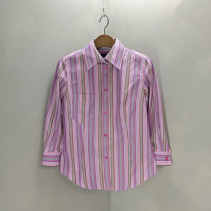 폴스미스 / 새제품  Paulsmith black stripe 0.8 sleeve shirt