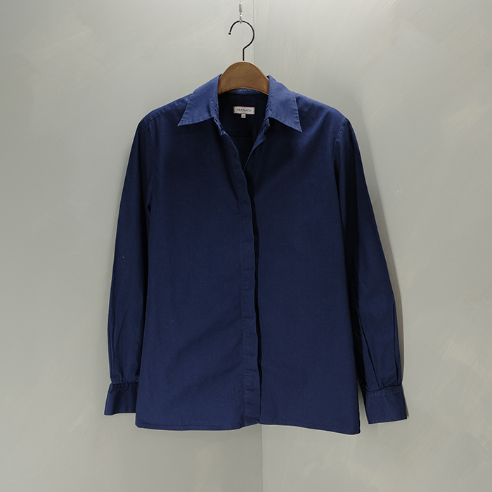 막스앤코  Max & co navy cotton shirt