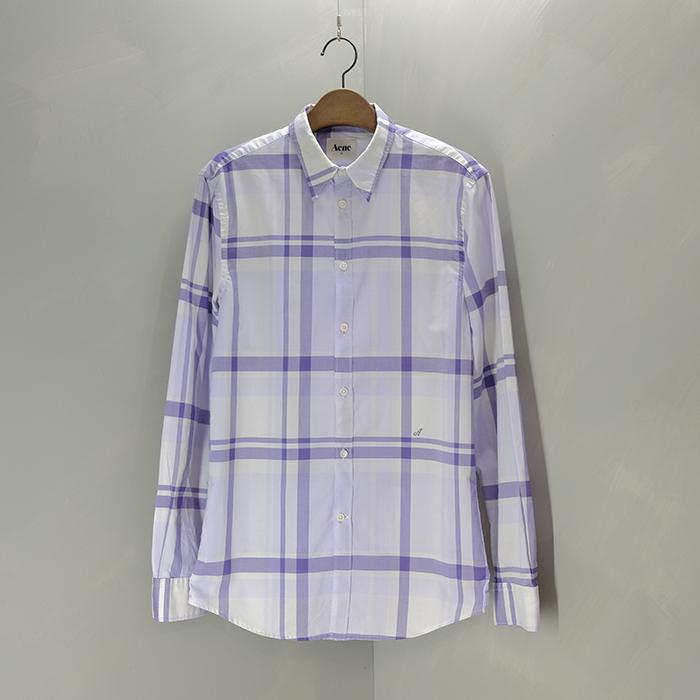 아크네 / Made in morocco  Acne slimfit check shirt