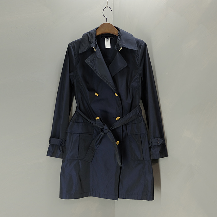 르코뱅 / Made in russia  Les copain blue bamboo button trench coat