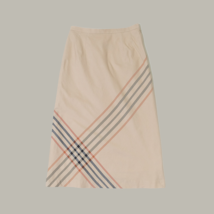 닥스  Daks big check skirt
