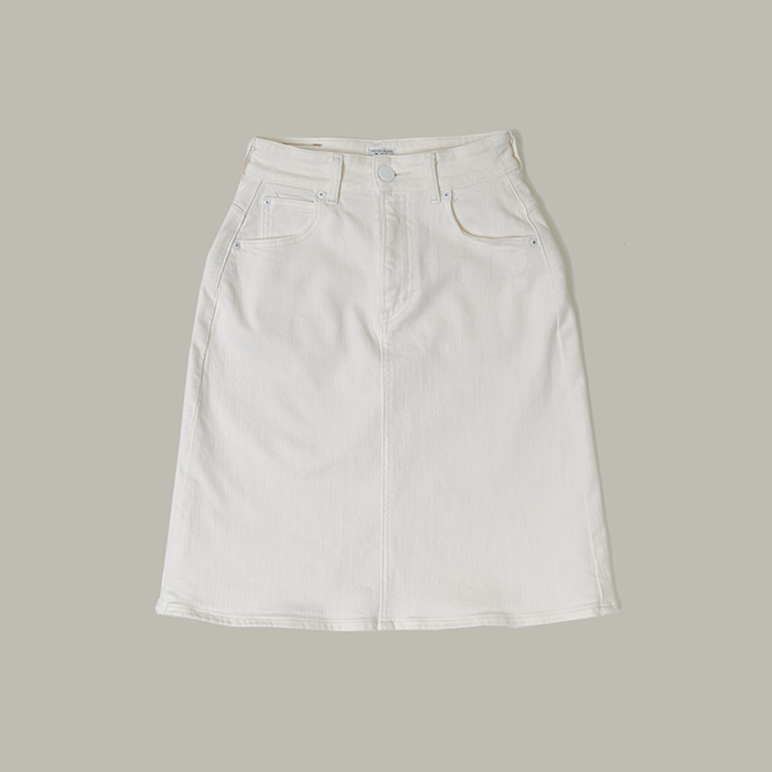 리 x 스니델 ./ Made in japan  Lee x Snidel white denim skirt