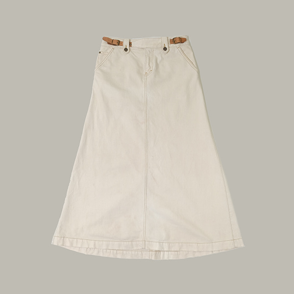 랄프로렌  Ralph lauren leather strap long vintage skirt
