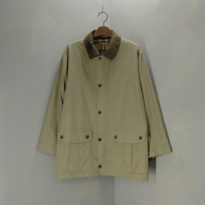 버버리  Burberrys fake leather collar jacket