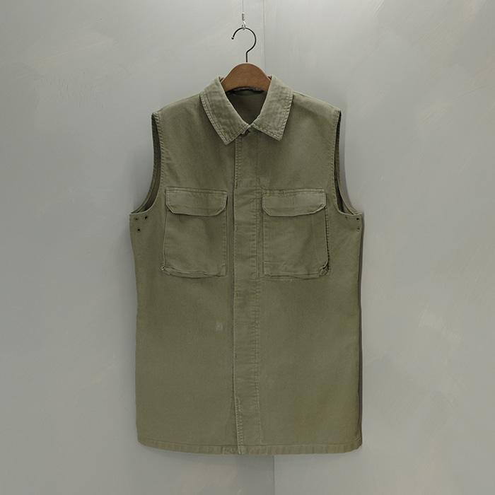 왈러  Wahler vtg german military remaked vest
