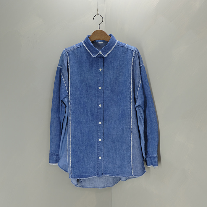 니코앤드  Niko and oversize patchwork denim shirt