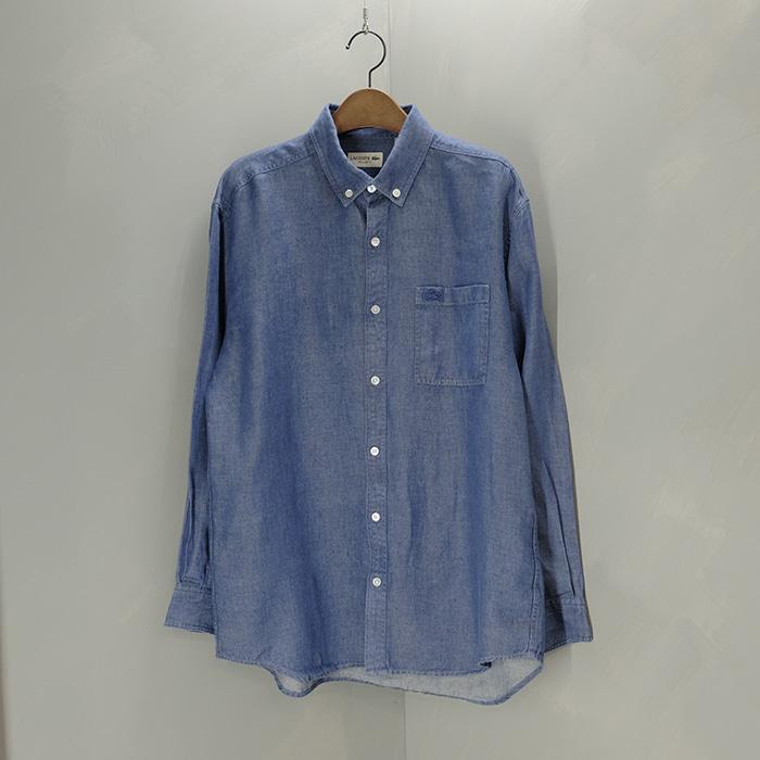 라코스테  Lacoste linen b/d shirt