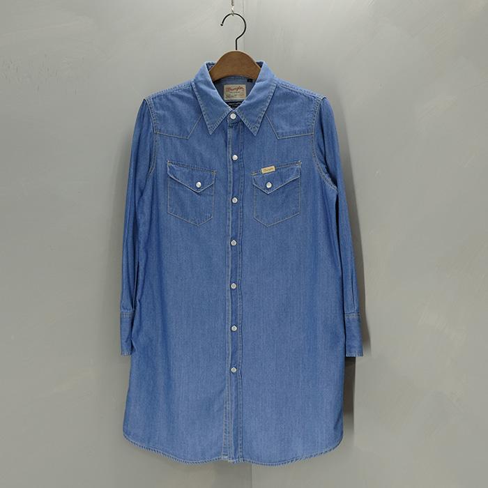 랭글러 X 쇼콜라핀  Wrangler x chocol raffine western long shirts