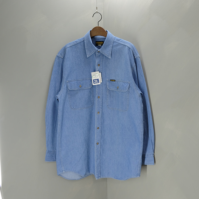 랭글러 / 새제품  Wrangler 2pocket denim shirts