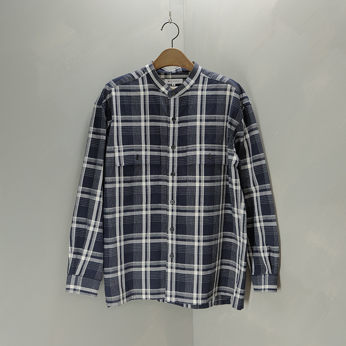 타케오 키쿠치 / Made in japan  The shop TK china collar overfit check shirt