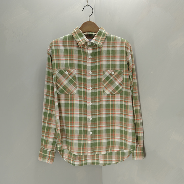 드님 / Made in japan  Denime 2pocket check shirt