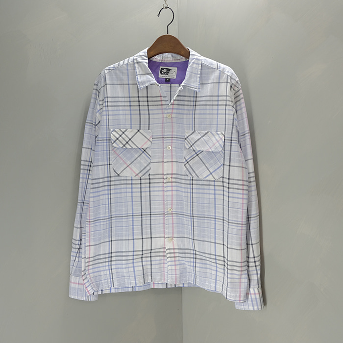 엔지니어드 가먼츠 / Made in usa  Engineered garmants opencollar check shirt
