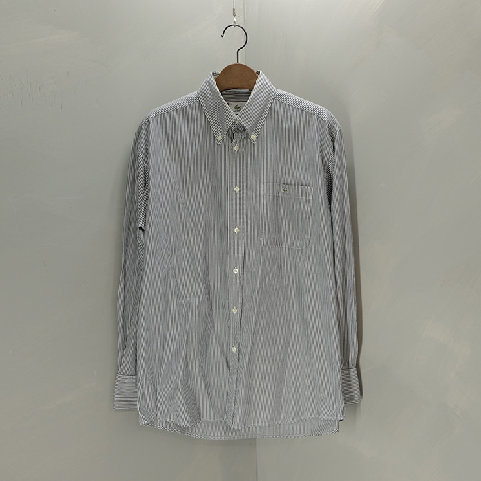라코스테 / Made in japan  Lacoste b/d stripe shirt