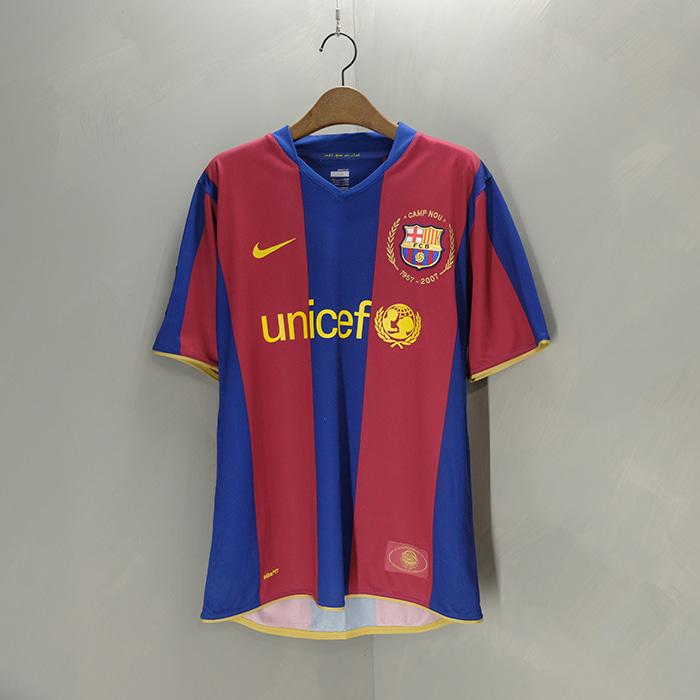 나이키 / Made in portugal  Fc barcelona 07/08 home jersey