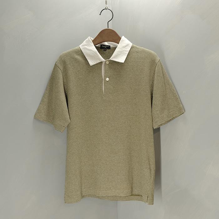 마가렛 호웰 / Made in japan  Margaret howell linen mix knit collar T