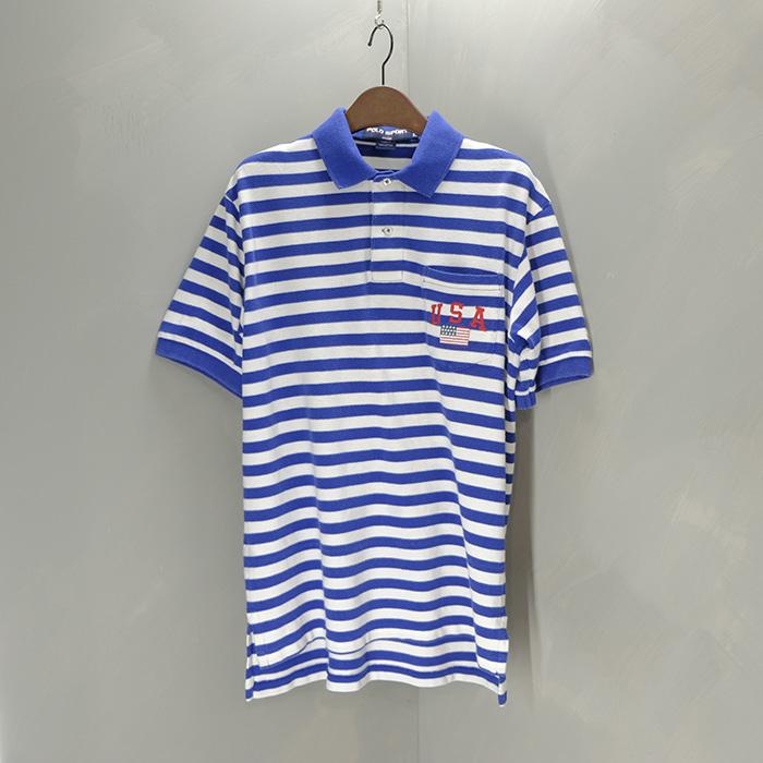 폴로 스포츠  Polo sport stripe pocket collar T