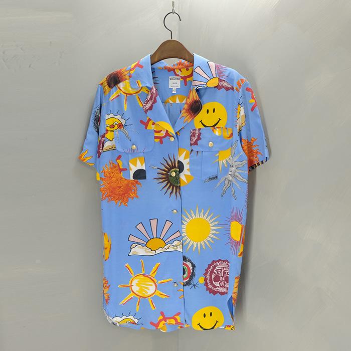 모스키노 / Made in italy  Moschino rayon opencollar shirt