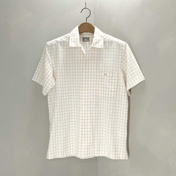 라코스테 / Made in japan  Lacoste linen mix check shirt