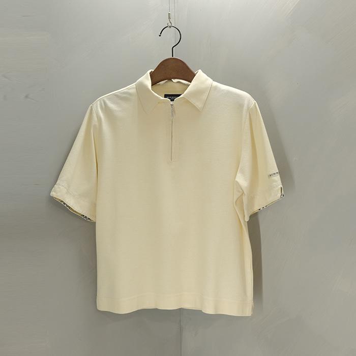 버버리 골프 / Made in japan  Burberry golf collar T