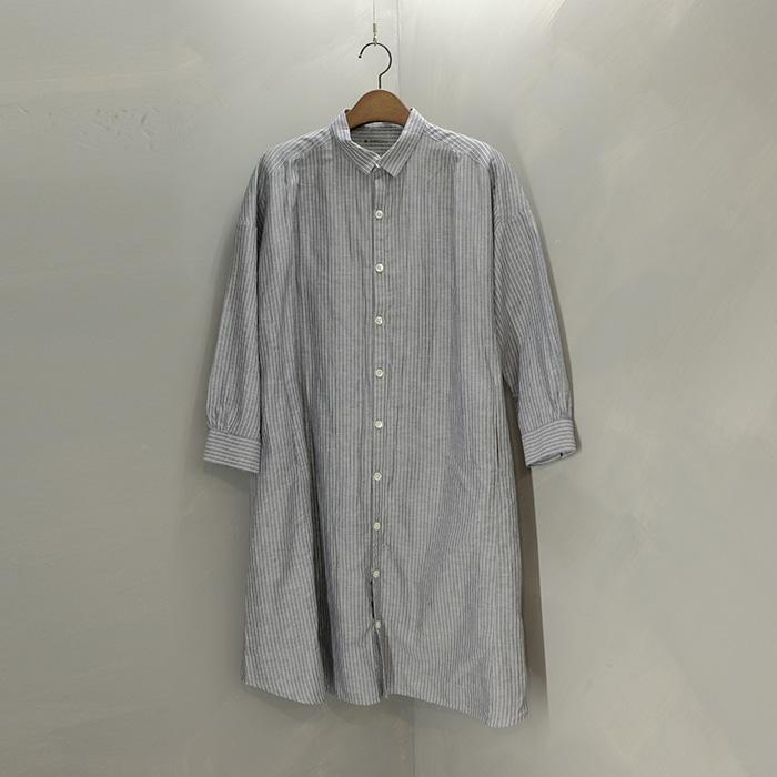 쉽스  Ships linen mix oversize shirt opc