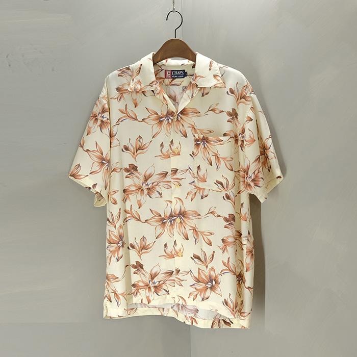 챕스 랄프로렌  Chaps ralph lauren rayon & linen mix hawaiian shirt