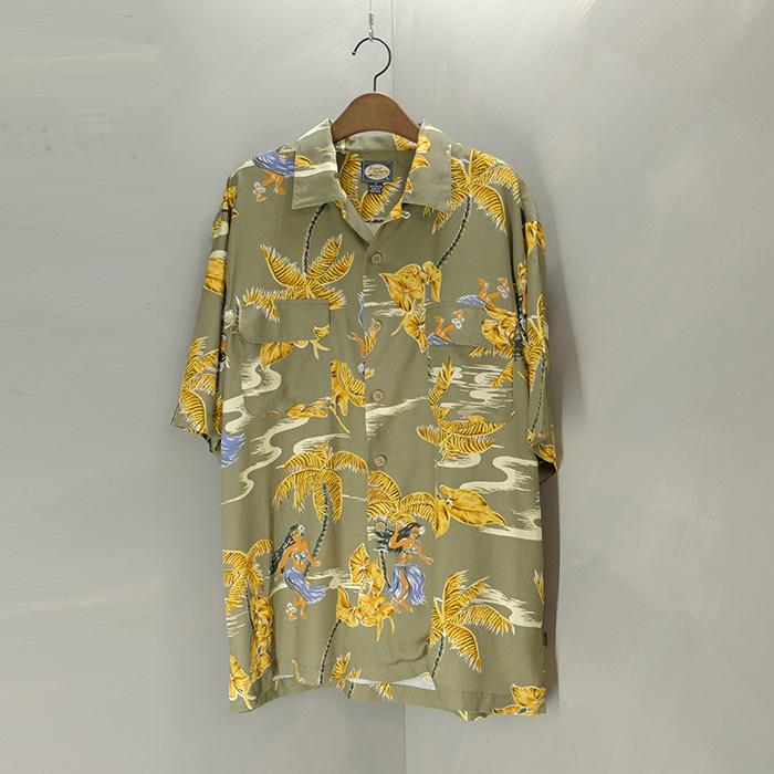 타미 바하마  Tommy bahama 2pocket rayon hawaiian shirt