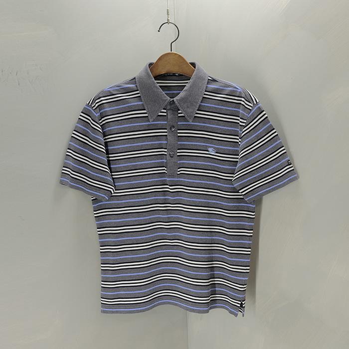 버버리 블랙라벨  Burberry blacklabel stripe collar T