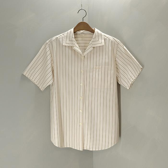 버버리  Burberrys opencollar stripe shirt