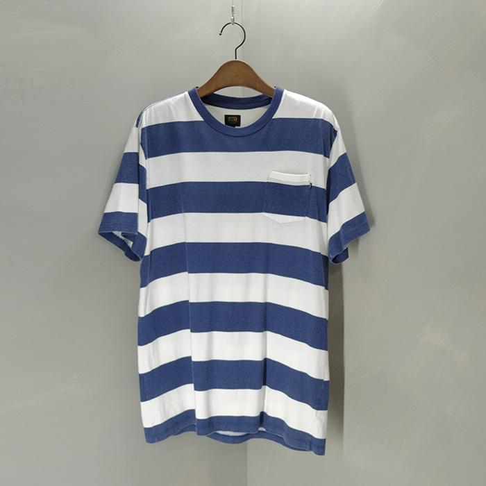 오베이  Obey stripe pocket T