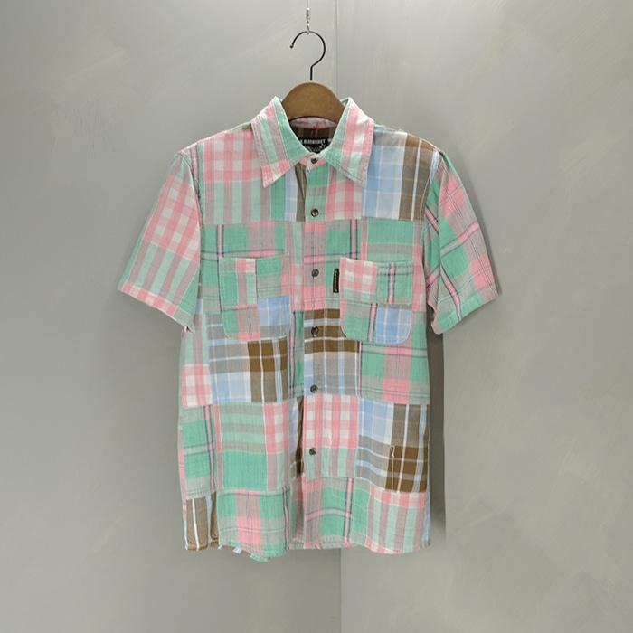 헐리우드랜치마켓 / Made in india  HR market patchwork shirt