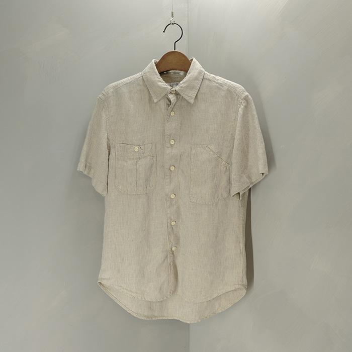저널스탠다드  Journal standard pure linen stripe shirt