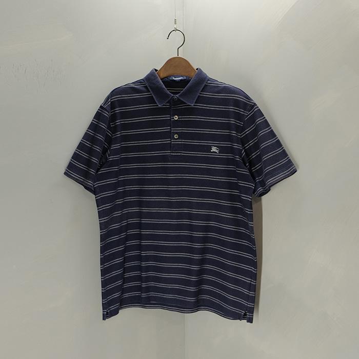 버버리 / Made in japan  Burberry stripe pk collar T