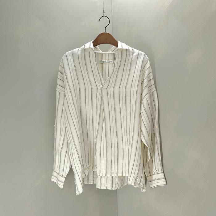 나노 유니버스  Nano universe oversize linen pullover shirt