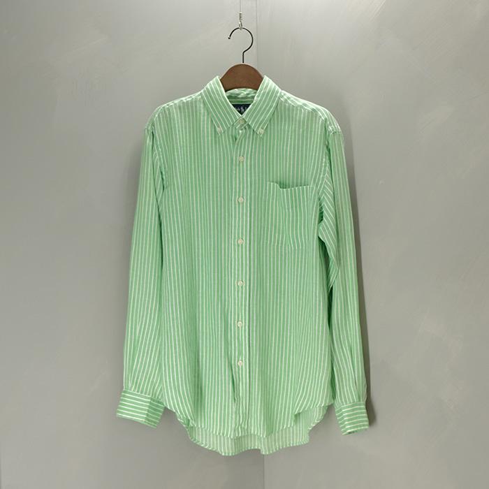 랄프로렌  Ralph lauren stripe linen shirt