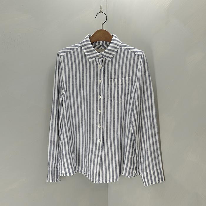 유나이티드 애로우즈  A dayof life united arrows stripe linen shirt
