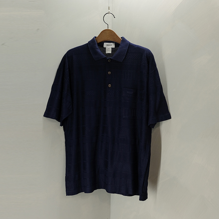 발리 / Made in italy  Bally pattern knit collar