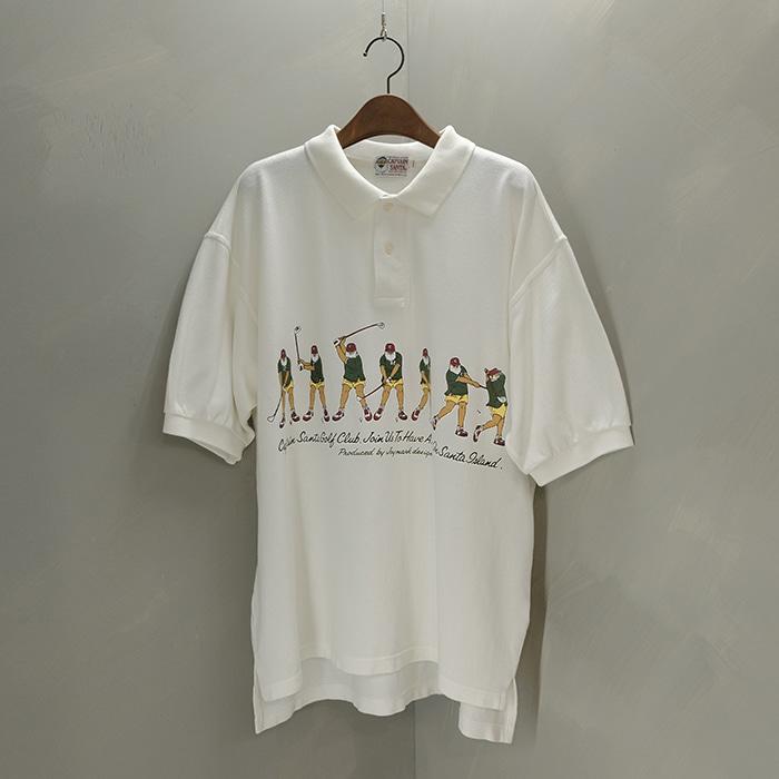 캡틴산타 / Made in japan  Captain santa print collar T
