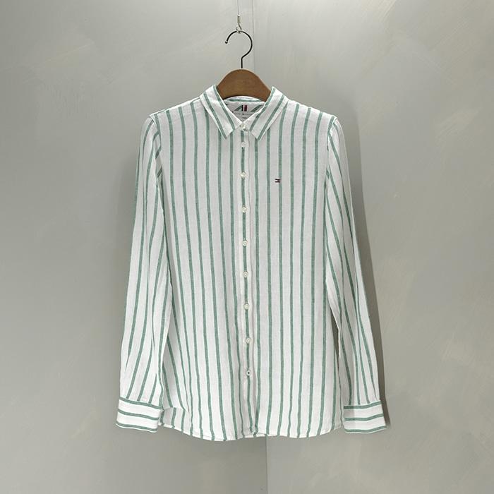타미 힐피거  Tommy hilfiger pure linen stripe shirt